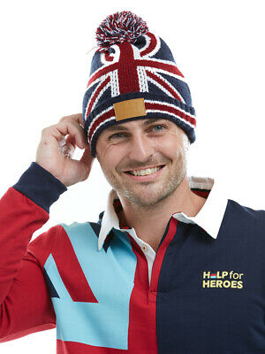 Help For Heroes Woolly Beanie Hat Union Jack • 12£