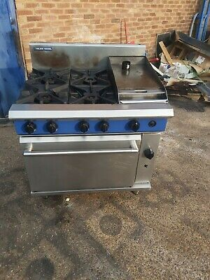 Blue Seal 4 Burners Cooker With Griddle NAT GAS Commercial Gas Cooking Station • 1,150£