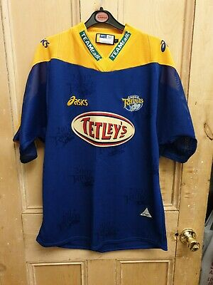 Leeds Rhinos 2002 Tetleys Asics Shirt XL (excellent Condition) • 7.50£