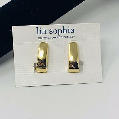 $ CDN17.03 • Buy Lia Sophia MODA Earrings Gold Clip On