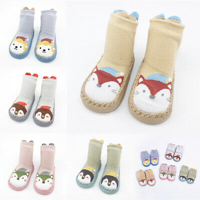 Toddler Anti-Slip Sock Shoes Boots Floor Baby Boys Cartoon Animal Slipper Socks • 7.34£