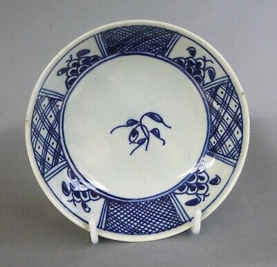 Pearlware Blue Painted Saucer, Excellent Condition, C 1790 To 1805 • 20£