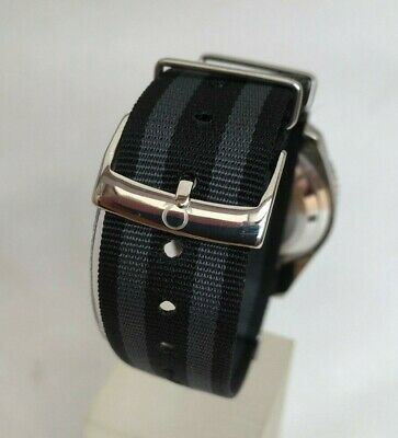 For OMEGA 20MM NATO PHOENIX MILITARY WATCH STRAP JAMES BOND SPECTRE BLACK & GREY • 6.50£
