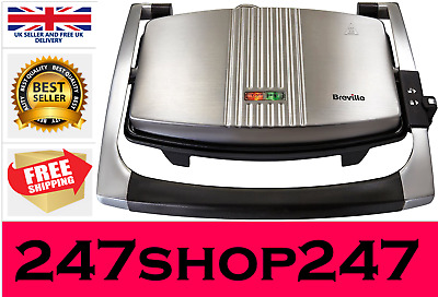 Breville Sandwich/Panini Press And Toastie Maker, Stainless Steel • 32.79£