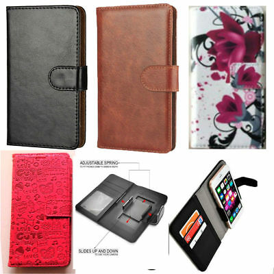 Slim Universal Clip-on Mobile Phone Case For  IMO Q4 Pro - PU Leather M • 8.99£