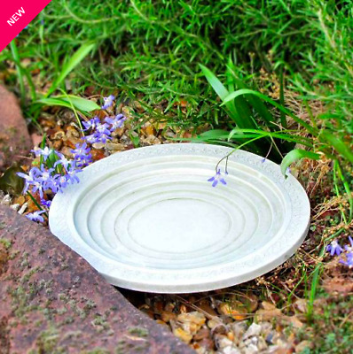 Bird Bath Drinker Table Insects Shenstone Theatre Garden Circular Natural Stone • 31£
