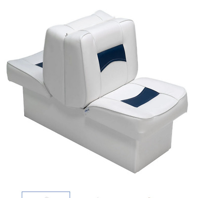 $ CDN273.33 • Buy Boat Seats  Classic Back To Back Reclining Lounger White/Blue Boating Marine Grd