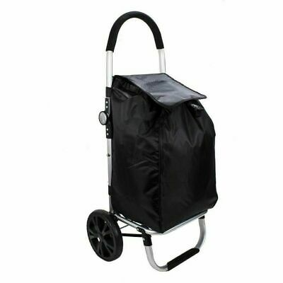 $ CDN44.27 • Buy Fully Fold Away Heavy Duty Shopping Trolley Grocery Cart Wheeled Luggage Bag UK