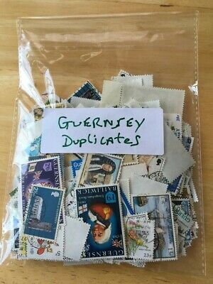 Guernsey Stamps,A Mixed Lot Of 350 Used And Mint Duplicate Stamps. • 0.99£