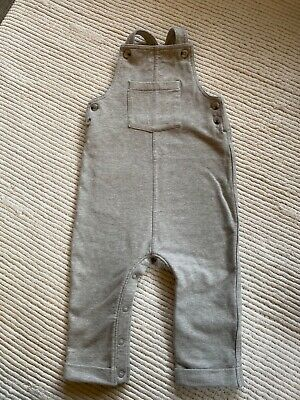 M&S Baby Boys Grey Stretch Dungarees 12-18 Months Excellent Condition • 0.99£