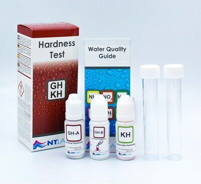 NT Labs Aquarium GH KH Hardness Test Lab For Tropical Fish Coldwater Test Kit • 8.95£