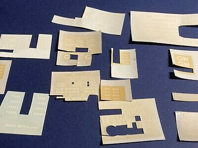 Job Lot Of Part Used Coopercraft And Ratio GWR Wagon Transfers - 4mm/OO/EM • 0.99£