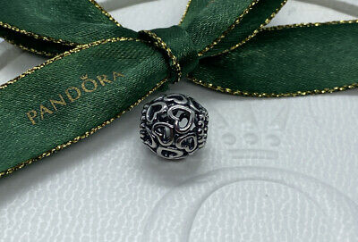 AU23.50 • Buy Pandora Sterling Silver Openwork Hearts Charm 790964 Authentic Ale 925