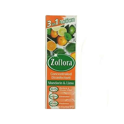 Mandarin & Lime Zoflora 3 In 1 Action Concentrated Disinfectant 250ml • 6.50£
