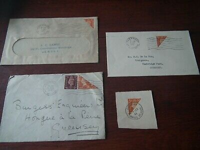 Guernsey Stamp Collection - WW2 - BISECT - Clear Postmarks - Channel Islands • 20£