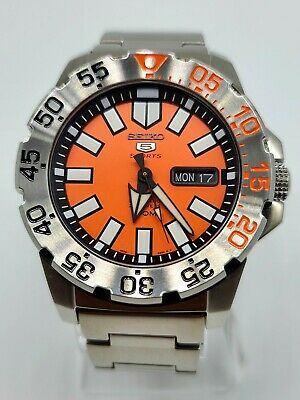 $ CDN386.69 • Buy Seiko Orange Baby Monster Automatic Stainless Steel SRP483 Mens Watch 43mm