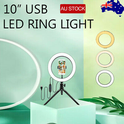 AU20.86 • Buy 10  Selfie LED Ring Light With Tripod Stand For Phone Live Stream Makeup Desktop