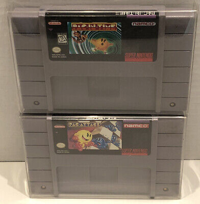 $ CDN49.99 • Buy Lot Of 2 Super Nintendo SNES Game Cartridges PAC-IN-TIME & PAC-ATTACK (tested)