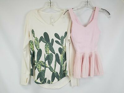 $ CDN13.17 • Buy Lululemon Pink City Tank & Weekend Cactus Long Sleeve Shirt Lot Sz 4