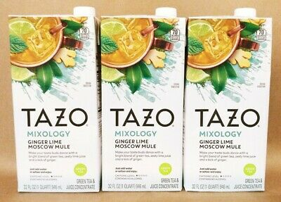 £21.82 • Buy Tazo Mixology Ginger Lime Moscow Mule Green Tea. 32oz (3 COUNT)