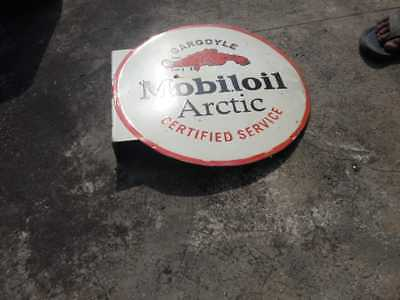 $ CDN259.17 • Buy Porcelain Mobiloil Sign SIZE 16  INCHES 2 SIDED
