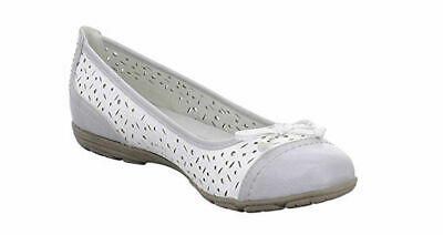 Softline By Jana Silver Grey White Pumps Ballerina Shoes 7 40 • 16£