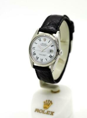 $ CDN6175.09 • Buy Vintage Men's Rolex Datejust Non-Quick 1601 Watch 36mm White Roman S/S #W10