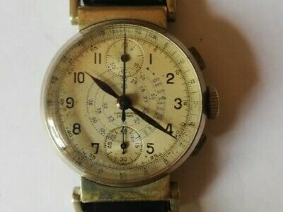 Extremely Rare Lovely Vintage Leonidas Chronograph Manual Wind Watch 1920´s • 780£