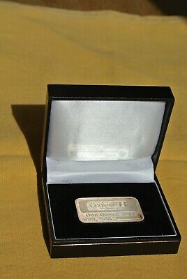 Silver Ingot In Presentation Case. One Ounce .999 Silver. Cookson Treasury. • 7.50£