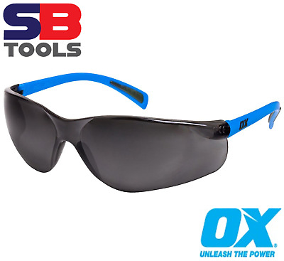 Ox Lightweight Safety Glasses Smoked/Tinted Specs UV Eye Protection Padded EN166 • 6.53£