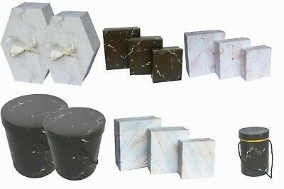 Wedding Florist Hat Flower Storage Boxes  Round Square Gift Bouquets Jewellery • 4.39£