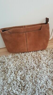 Next Suede Leather Tan Large Clutch Bag • 8.99£