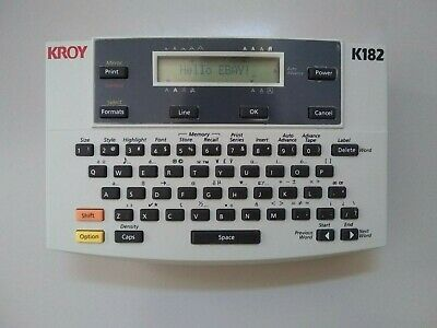 Kroy 182 Label Printer, Handheld, QWERTY Keyboard, Up (Not Tested With Tape) • 13.50£