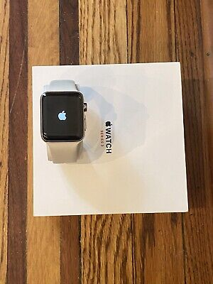 $ CDN329.55 • Buy Apple Watch Series 3 42mm Stainless Steel Case With Soft White Sport Band (GPS +