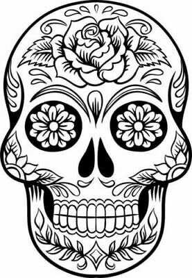 Sugar Candy Skull Tattoo Novelty Decal Vinyl Sticker Car Laptop Glass Wall • 3.99£