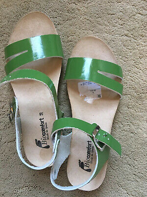 Ladies Sandals Flat Leather Cork Comfort Size 38(5)New • 19£