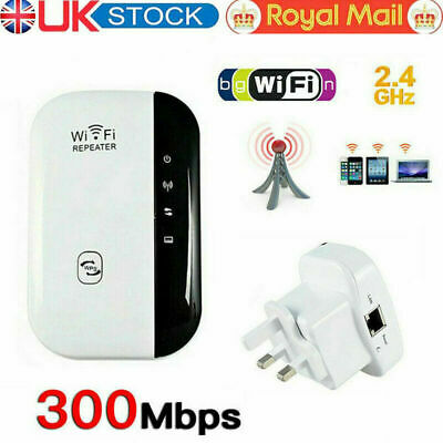 WiFi Signal Repeater Extender Range Booster Internet Network Amplifier - UK Plug • 11.20£