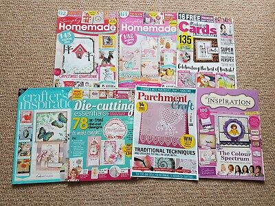 Cardmaking Papercraft Die-cutting Parchment Decoupage Magazines Lots Of Ideasx 7 • 3.99£