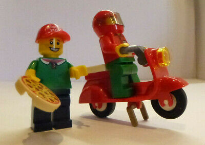 Genuine LEGO Custom - PIZZA DELIVERY AND SHOP ASSISTANT Minifigures • 5.99£