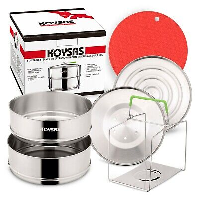 $ CDN43.70 • Buy KOYSAS Stackable Steamer Insert Pans For Instant Pot  – 6, 8 Quart