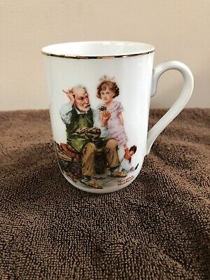 $ CDN7.91 • Buy Vintage 1982 Norman Rockwell Museum  The Cobbler  Collectible Coffee Cup Mug