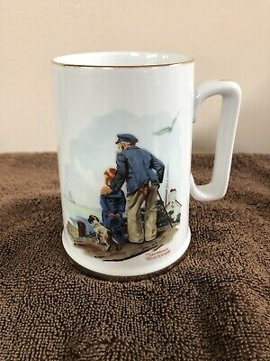 $ CDN7.91 • Buy Norman Rockwell Museum Collectible Coffee Mug Cup Looking Out To Sea 1985