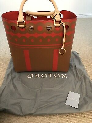 AU150 • Buy Oroton Sydney Tote Large Tote Bag Leather Bag Top Handles Brand New