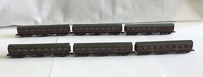 6 Graham Farish N Gauge LMS Mainline Coaches (5 X 0621, 1 X 0631) • 15£