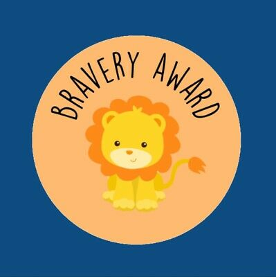 35x Bravery Award Cute Lion Brave Doctor Children's Adhesive 30mm Stickers 290 • 2.75£