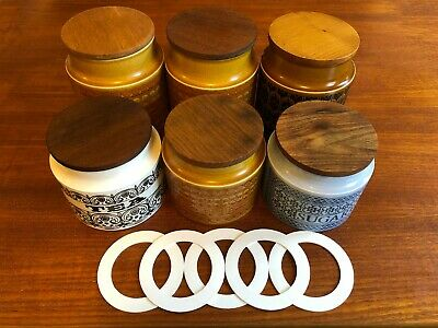 Hornsea Storage Jar Replacement Rubber Seal - Set Of Five • 9.99£