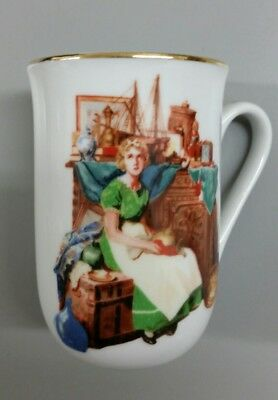 $ CDN5.27 • Buy Norman Rockwell Museum Mug 1986  Dreams In The Antique Shop  - Gold Edge Detail