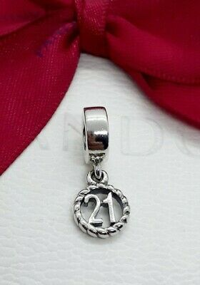 AU35 • Buy New Pandora Number 21  Birthday Dangle Silver Charm 790495 Retired Authentic