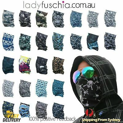 AU3.75 • Buy Bandana Face Mask Neck Tube Cycling Motorcycle Fishing Outdoor Mix Head Scarf