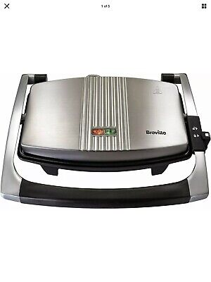 Breville Sandwich/Panini Press And Toastie Maker, Stainless Steel • 27.40£